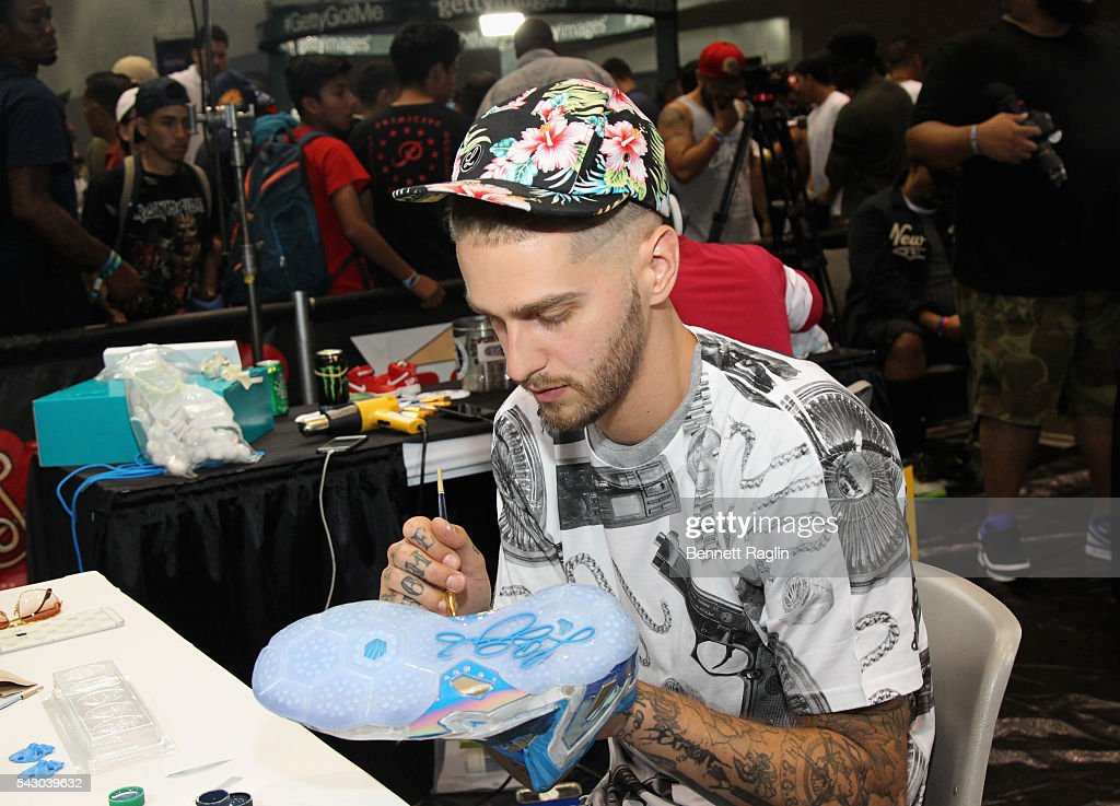 Sneaker artist attends SneakerCon presented by Sprite, Rush Card, & FDA during the 2016 BET Experience at Los Angeles Convention Center on June 25, 2016 in Los Angeles, California.