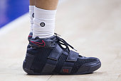Sneaker detail of Jared Cunningham of the Cleveland Cavaliers during the game against the Philadelphia 76ers on November 2 2015 at the Wells Fargo...