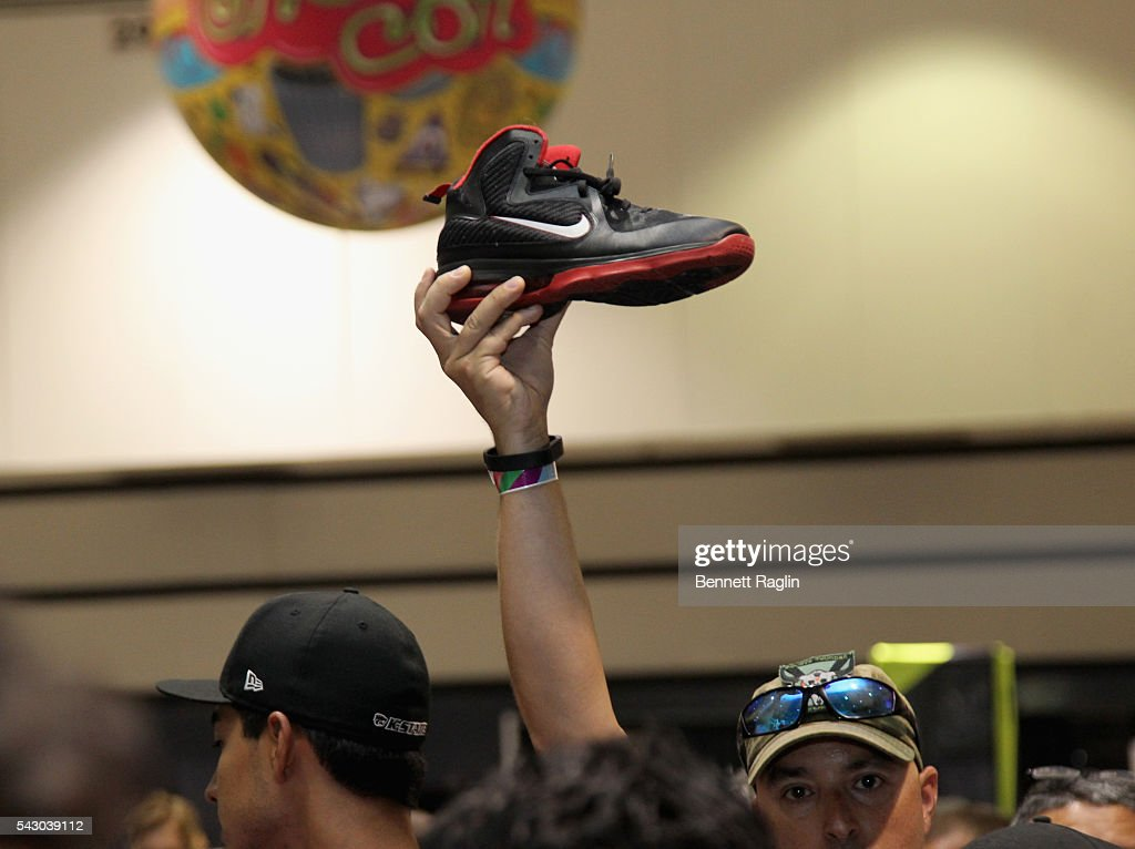 Sneakers are seen at SneakerCon presented by Sprite, Rush Card, & FDA during the 2016 BET Experience at Los Angeles Convention Center on June 25, 2016 in Los Angeles, California.
