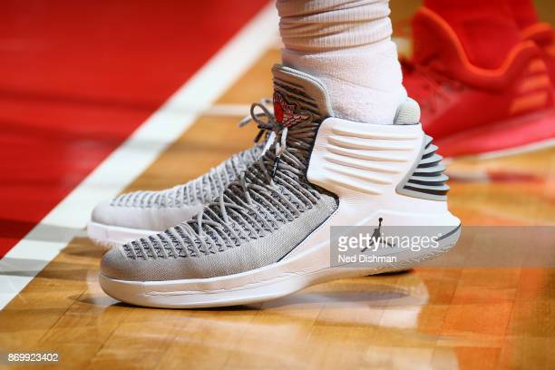 Sneakers of Jeff Green of the Cleveland Cavaliers during the game against the Washington Wizards on November 3 2017 at Capital One Arena in...