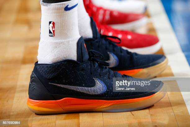 Sneakers of JJ Barea of the Dallas Mavericks during the game against the Chicago Bulls on October 4 2017 at the American Airlines Center in Dallas...