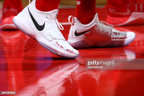 Sneakers of John Wall of the Washington Wizards during game against the Detroit Pistons on October 20 2017 at Capital One Arena in Washington DC NOTE...