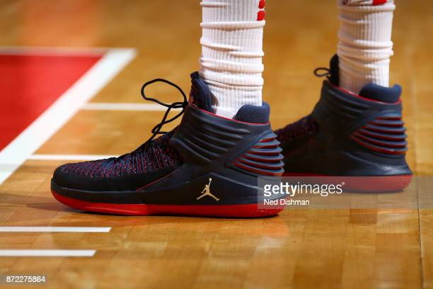Sneakers of Otto Porter Jr #22 of the Washington Wizards during the game against the Los Angeles Lakers on November 9 2017 at Capital One Arena in...
