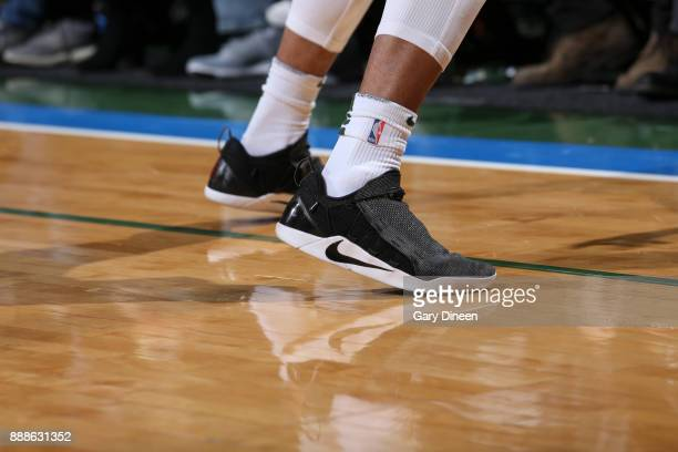 Sneakers of Rashad Vaughn of the Milwaukee Bucks during game against the Dallas Mavericks on December 8 2017 at the Bradley Center in Milwaukee...