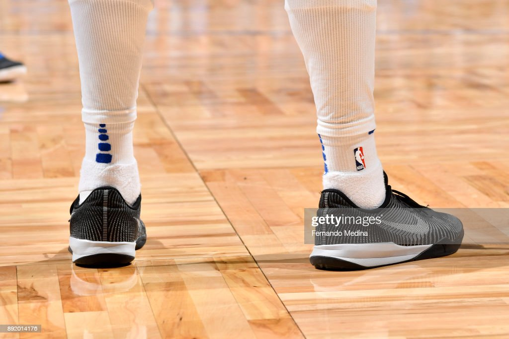 Sneakers of Shelvin Mack #7 of the Orlando Magic duing the game against the LA Clippers on December 13, 2017 at Amway Center in Orlando, Florida.