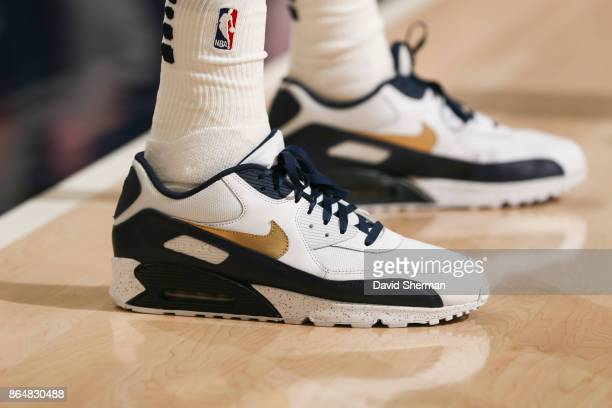 Sneakers of Thabo Sefolosha of the Utah Jazz during a game against the Oklahoma City Thunder on October 21 2017 at Vivint Smart Home Arena in Salt...