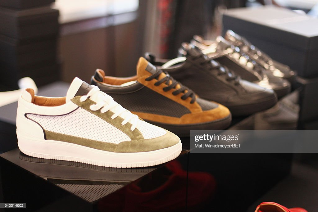 Sneakers on display at the BETX gifting suite during the 2016 BET Experience on June 25, 2016 in Los Angeles, California.