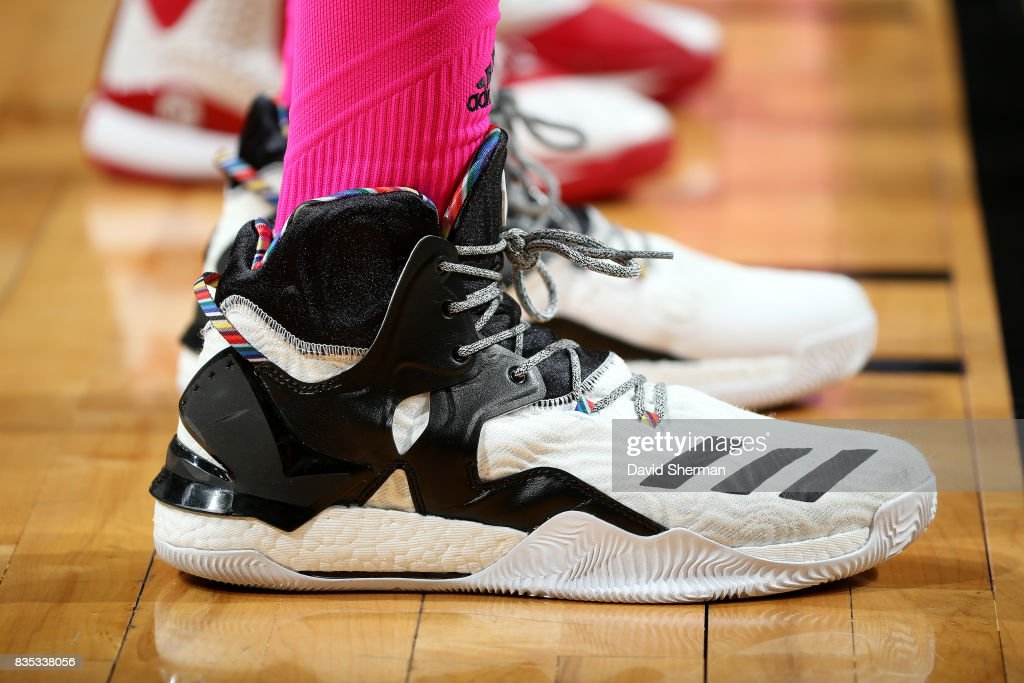 Sneakers worn by Plenette Pierson #22 of the Minnesota Lynx during the game against the Indiana Fever during the WNBA game on August 18, 2017 at Xcel Energy Center in St. Paul, Minnesota.