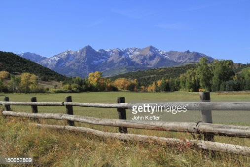 Sneffels Range, autumn : Stock Photo