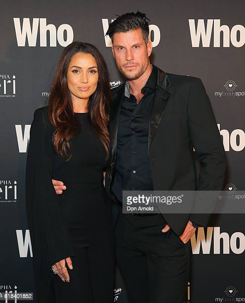 Snezana Markoski and Sam Wood arrive ahead of the WHO Sexiest People Party on October 26 2016 in Sydney Australia