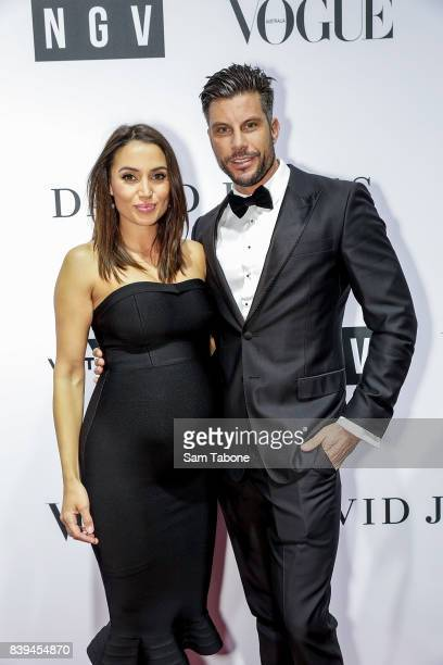 Snezana Markoski and Sam Wood arrives ahead of the NGV Gala at NGV International on August 26 2017 in Melbourne Australia