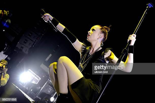 Sängerin Shirley Manson während eines Konzerts im EWerk in Köln