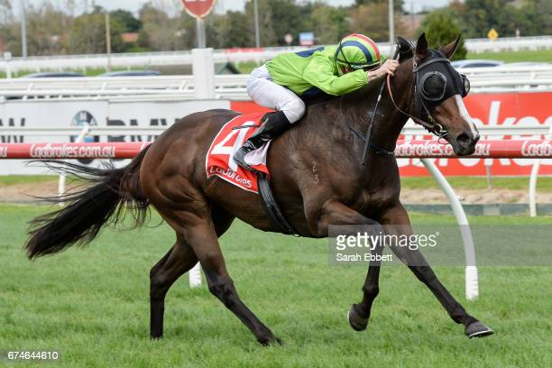 Snitty Kitty ridden by Beau Mertens wins the Changing Places Real Estate Handicap at Caulfield Racecourse on April 29 2017 in Caulfield Australia