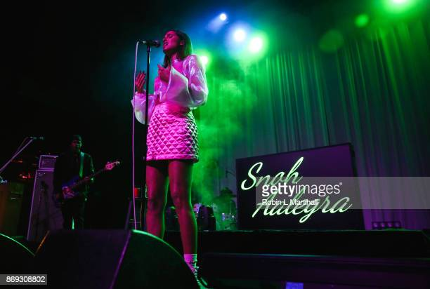 Snoh Aalegra performs at The Fonda Theatre on November 1 2017 in Los Angeles California