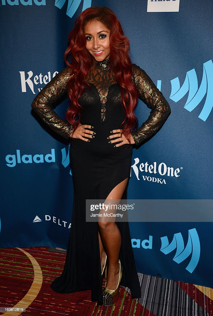 Snooki attends the 24th Annual GLAAD Media Awards on March 16, 2013 in New York City.