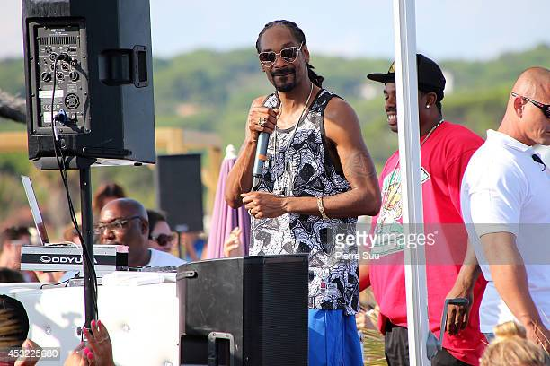 Snoop Dog does a showcase at pampelonne beach on August 5 2014 in SaintTropez France