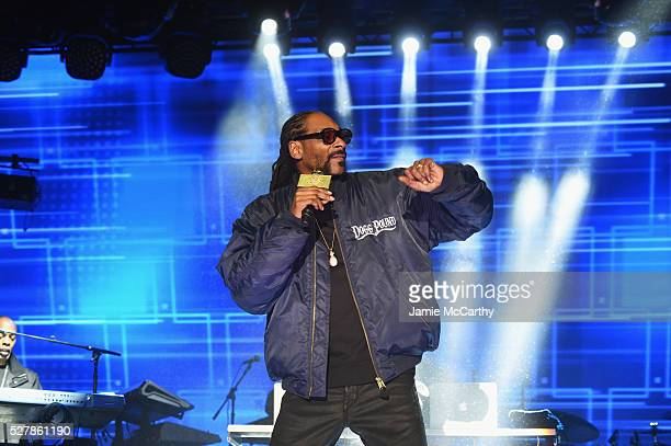 Snoop Dog performs onstage at the AOL NewFront 2016 at Seaport District NYC on May 3 2016 in New York City
