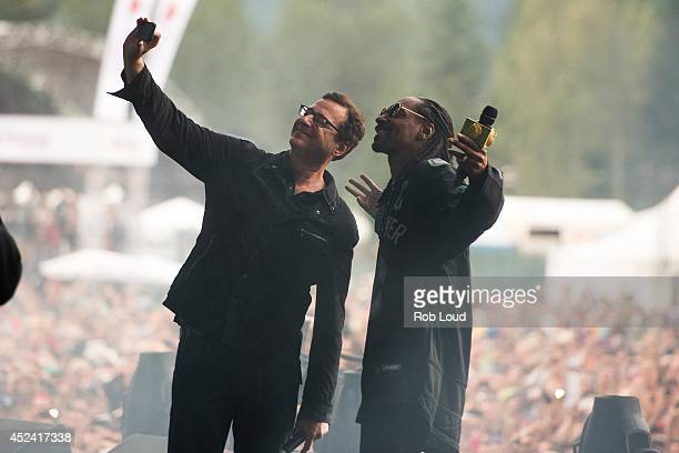 Snoop Dogg and Bob Saget perform at the Pemberton Music Festival on July 19 2014 in Pemberton Canada