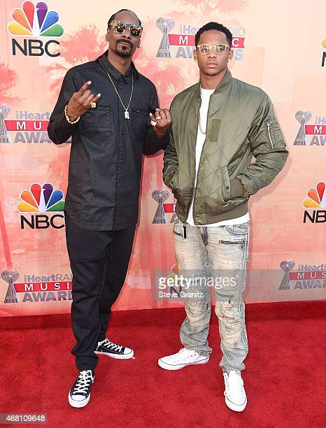 Snoop Dogg and Cordell Broadus arrives at the 2015 iHeartRadio Music Awards at The Shrine Auditorium on March 29 2015 in Los Angeles California
