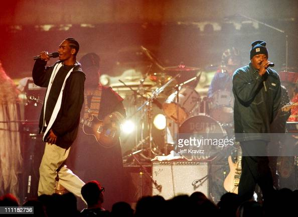 Snoop Dogg and Dr Dre during 1993 MTV Movie Awards at Sony Studios in Culver City California United States