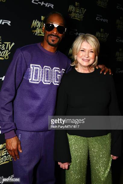 Snoop Dogg and Martha Stewart attend the 2017 MTV Movie And TV Awards After Party at The Shrine Auditorium on May 7 2017 in Los Angeles California