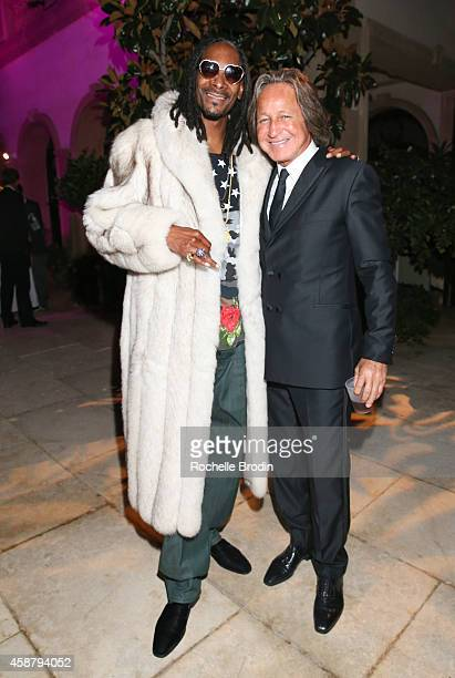 Snoop Dogg and Mohamed Hadid attend the French Montana Mohamed Hadid Birthday Party Powered By CIROC Pineapple and Produced By...