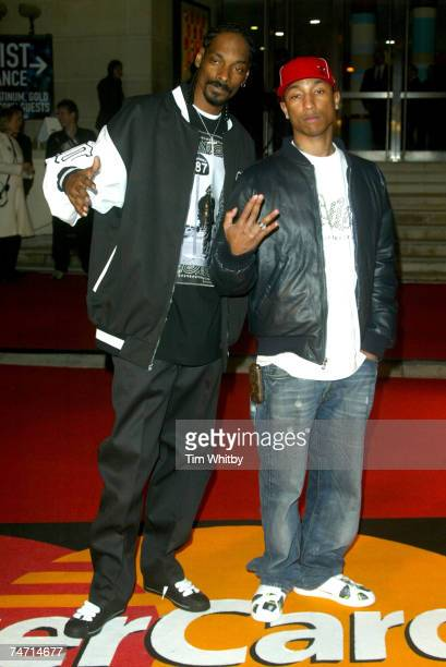 Snoop Dogg and Pharrell Williams at the Earls Court 2 in London United Kingdom
