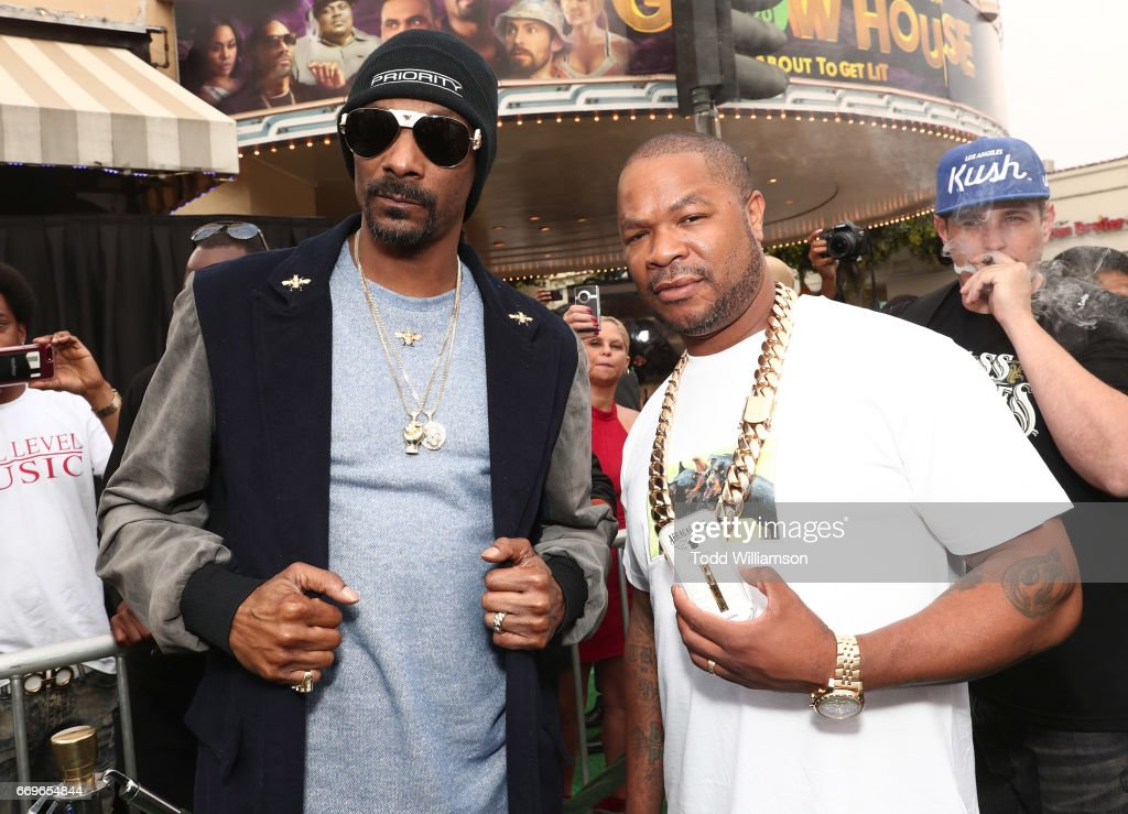 Snoop Dogg and Xzibit attend the 'Grow House' World Premiere at W Los Angeles - Westwood on April 17, 2017 in Los Angeles, California.