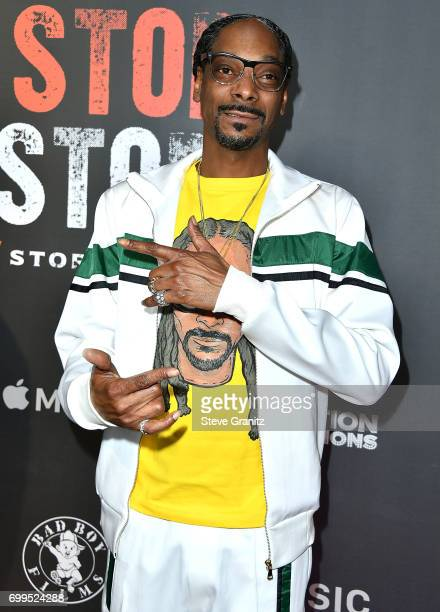 Snoop Dogg arrives at the Los Angeles Premiere Of 'Can't Stop Won't Stop' at Writers Guild of America West on June 21 2017 in Los Angeles California