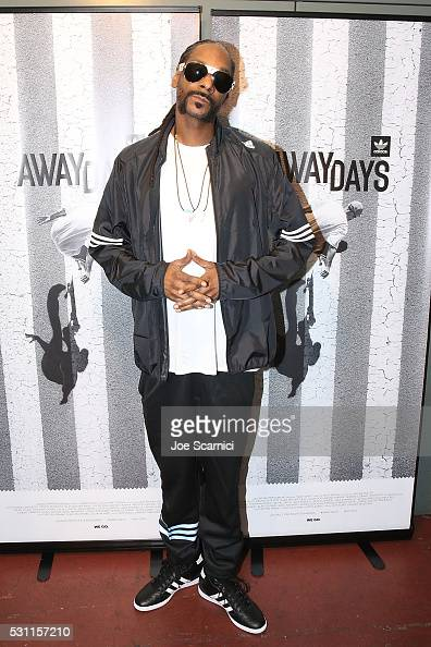Snoop Dogg arrives at the Premiere Of Adidas' 'Away Days' at The Orpheum Theatre on May 12 2016 in Los Angeles California