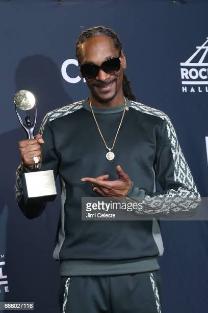Snoop Dogg attends the 32nd Annual Rock Roll Hall Of Fame Induction Ceremony at Barclays Center on April 7 2017 in New York City