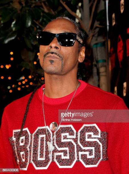 Snoop Dogg attends the premiere for TBS's 'Drop The Mic' and 'The Joker's Wild' at The Highlight Room on October 11 2017 in Los Angeles California