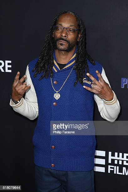 Snoop Dogg attends the premiere of Freestyle Releasing's 'Meet The Blacks' at ArcLight Hollywood on March 29 2016 in Hollywood California