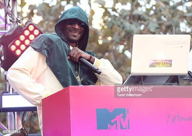 Snoop Dogg attends the Ribbon Cutting for the new Viacom Building on January 26 2017 in Los Angeles California