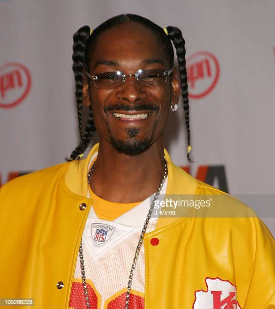 Snoop Dogg during 2003 Vibe Awards Press Room at Santa Monica Civic Auditorium in Santa Monica California United States