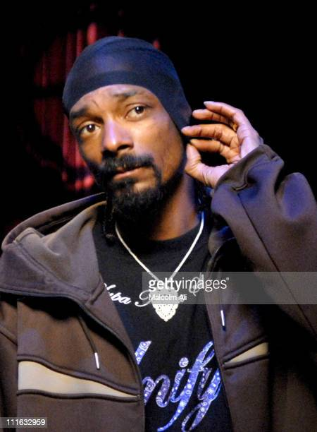 Snoop Dogg during Snoop Dogg Instudio Session with Amp'd Mobile February 26 2007 in Los Angeles California United States