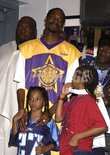 Snoop Dogg family during Magic Johnsons 17th Annual