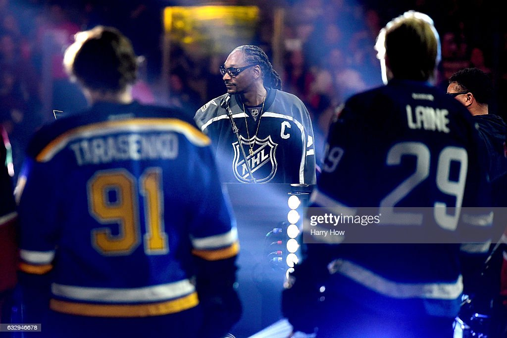 Snoop Dogg hosts the 2017 Coors Light NHL All-Star Skills Competition as part of the 2017 NHL All-Star Weekend at STAPLES Center on January 28, 2017 in Los Angeles, California.