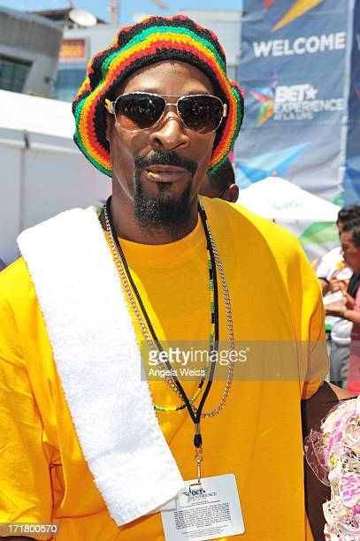 Snoop Dogg impersonator attends Sprite Court at the Fan Fest Outdoor during the 2013 BET Experience at LA LIVE on June 28 2013 in Los Angeles...