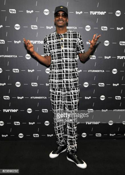 Snoop Dogg of 'The Joker's Wild' at the TCA Turner Summer Press Tour 2017 Green Room at The Beverly Hilton Hotel on July 27 2017 in Beverly Hills...