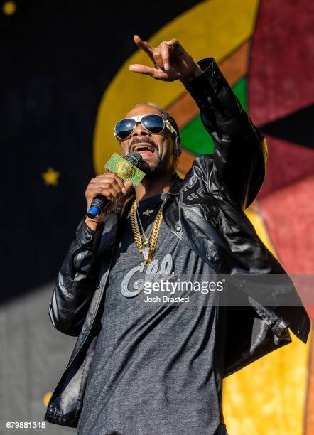 Snoop Dogg performs at the New Orleans Jazz Heritage Festival at Fair Grounds Race Course on May 6 2017 in New Orleans Louisiana