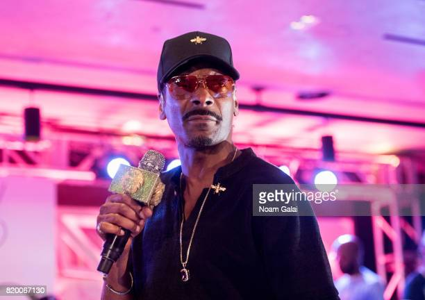 Snoop Dogg performs at the Philip R Shawe Scholarship Competition at 1 Hotel Brooklyn Bridge on July 20 2017 in the Brooklyn borough of New York City...