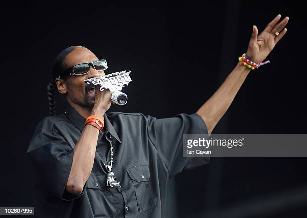 Snoop Dogg performs live on the Main Stage during Day 2 of the Wireless Festival in Hyde Park on July 3 2010 in London England