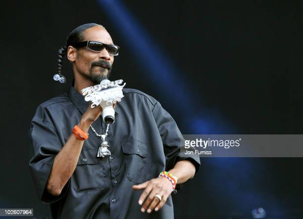 Snoop Dogg performs on day 2 of the Barclaycard Wireless Festival at Hyde Park on July 3 2010 in London England