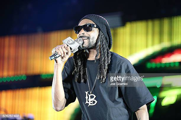 Snoop Dogg performs onstage at Stagecoach 2016 during a Bud Light Music Stage Moment at The Empire Polo Club on April 29 2016 in Indio California