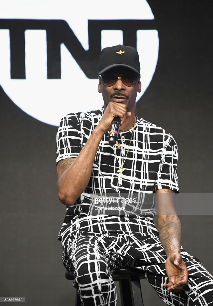Snoop Dogg speaks onstage during the TCA Turner Summer Press Tour 2017 Presentation at The Beverly Hilton Hotel on July 27, 2017 in Beverly Hills, California. 27049_002