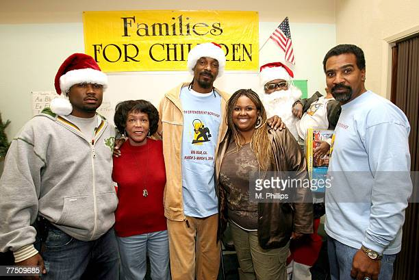 Snoop Dogg visits Families for Children to spread some holiday Joy by holding a toy drive on December 18 2006 in Inglewood California Adell Terilyn...