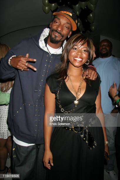 Snoop Dogg with his wife Shante Broadus during Snoop Dogg's Birthday Bash and 'Hood of Horror' After Party Sponsored By Captain Morgan Heineken...