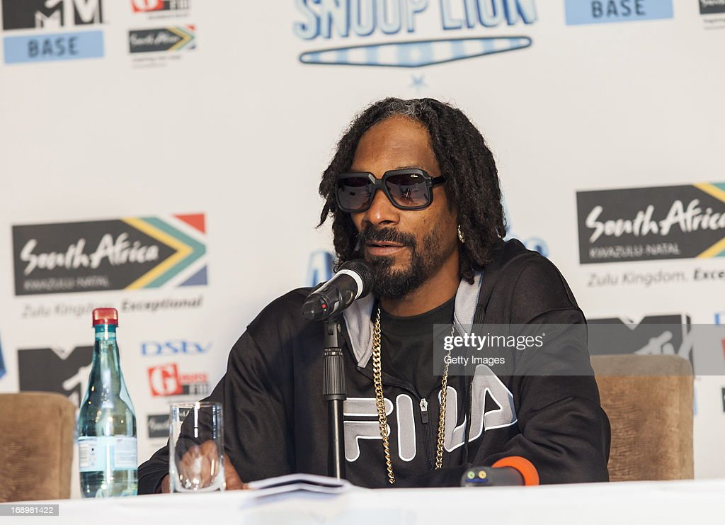 Snoop Lion aka Snoop Dog at the press conference for the MTV Africa All Stars Concert on May17, 2013 in Durban, South Africa. Snoop Dog or Snoop Lion as he is now also known will be the headline act for the Concert.