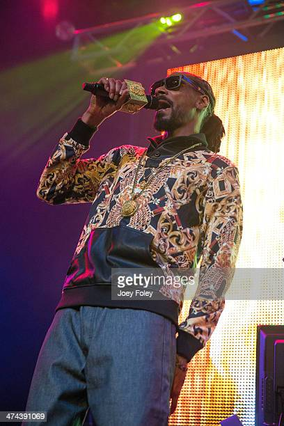 Snoop Lion aka Snoop Dogg performs live onstage at The Vogue on February 22 2014 in Indianapolis Indiana